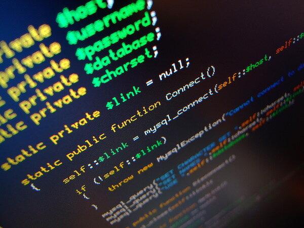 weboldal fejlesztési kódrészlet